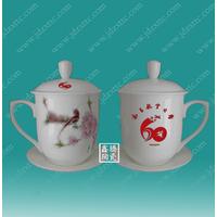 供应陶瓷茶杯 纪念茶杯定做  陶瓷茶杯厂家