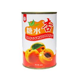 正品多国牌水果糖水杏罐头425克12罐整箱