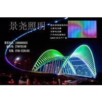 夜间建筑桥梁七彩亮化LED点光源