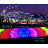 商业大夏夜景轮廓亮化暖光色LED数码管欢迎致电订购