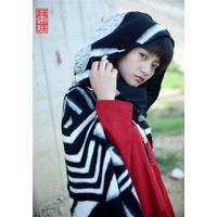 琴哩原创设计女巫羊毛羊绒斗篷大衣外套 罗马格风衣披肩女文艺