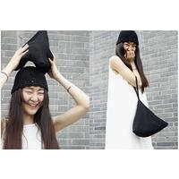 琴哩 ****设计 黑色针织毛线小拎包 手挽包 粽子包 包邮