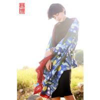 琴哩原创设计 棉麻披肩2015春秋新款百搭装饰多功能披风围巾