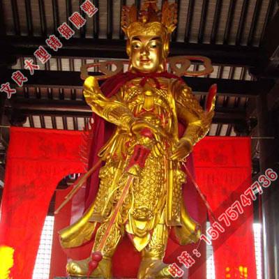 铜贴金韦陀雕塑生产厂家