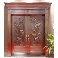 公寓深圳铜门厂家玻璃铜门 防盗门 铜套门