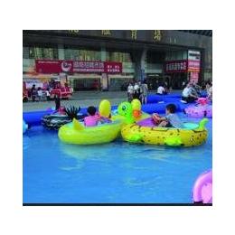 供应万森厂水上电动碰碰船大黄鸭造型带动感音乐水上儿童乐园