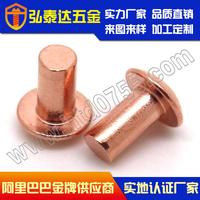 供应GB867半圆头铜铆钉 实心铜铆钉 平头铜铆钉