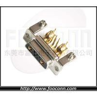 供应 大电流连接器 D-Sub 7W2 2粗5细90度公座