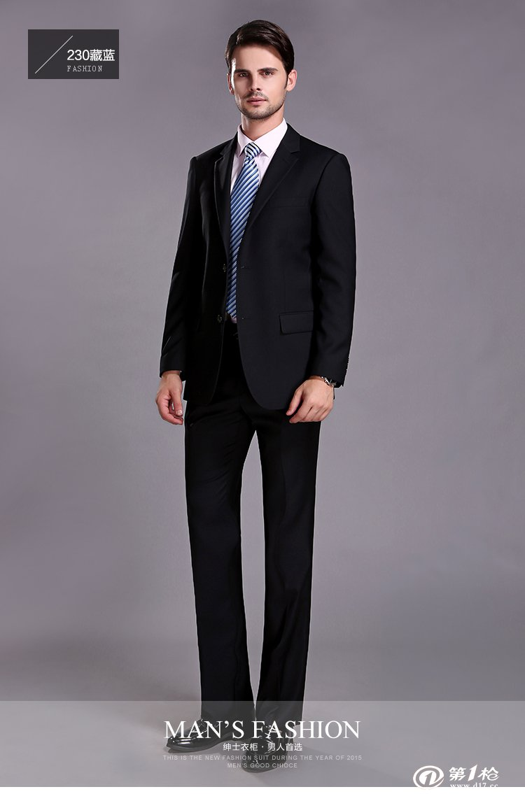 春秋韩版修身男士西装外套商务休闲职业正装西服男