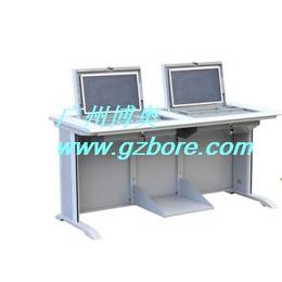 博奥BR014二人位液晶屏翻转电脑桌合肥电教室学生电脑翻转桌