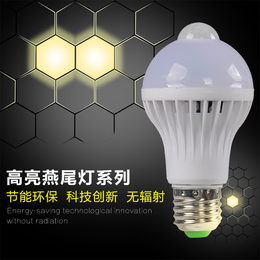 LED5W声光控智能感应灯泡楼梯走廊楼道 卫生间公共场所