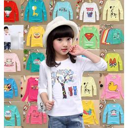 敦化市厂家批发秋季童装长袖T恤儿童服装关爱小孩健康成长好衣服