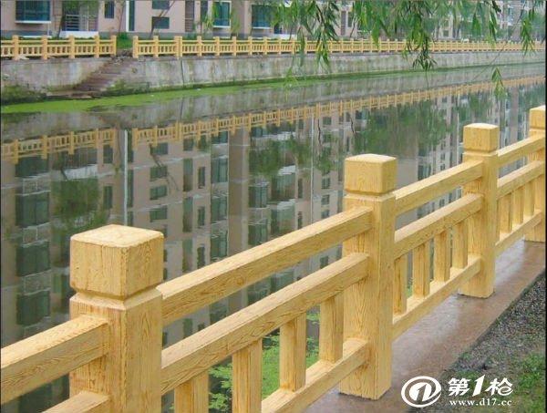 供应仿木栏杆 水泥grc仿木栏杆