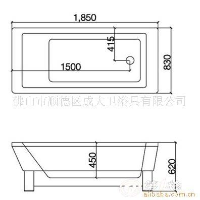 浴缸下水管道结构图