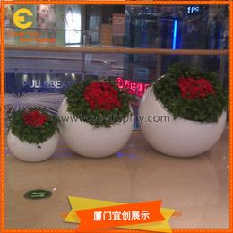 商场酒店餐厅酒吧会所异形简易玻璃钢花缸花瓶花器制作厂家缩略图