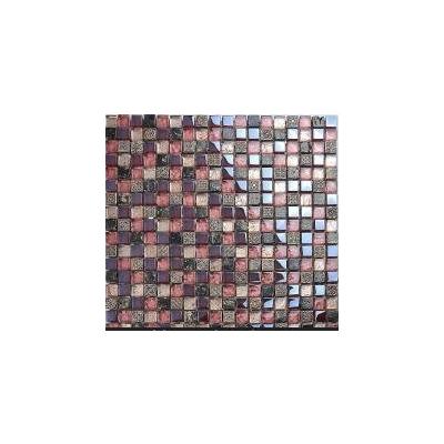 【魅帝】仿古艺术雕花 树脂金箔水晶玻璃马赛克瓷砖 pcc14