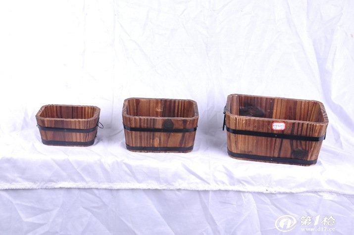 防腐木花瓶 花盆 木桶