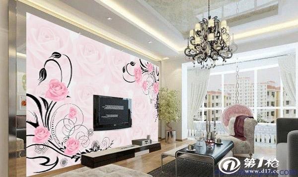 3d壁画无纺布客厅卧室欧式温馨简约