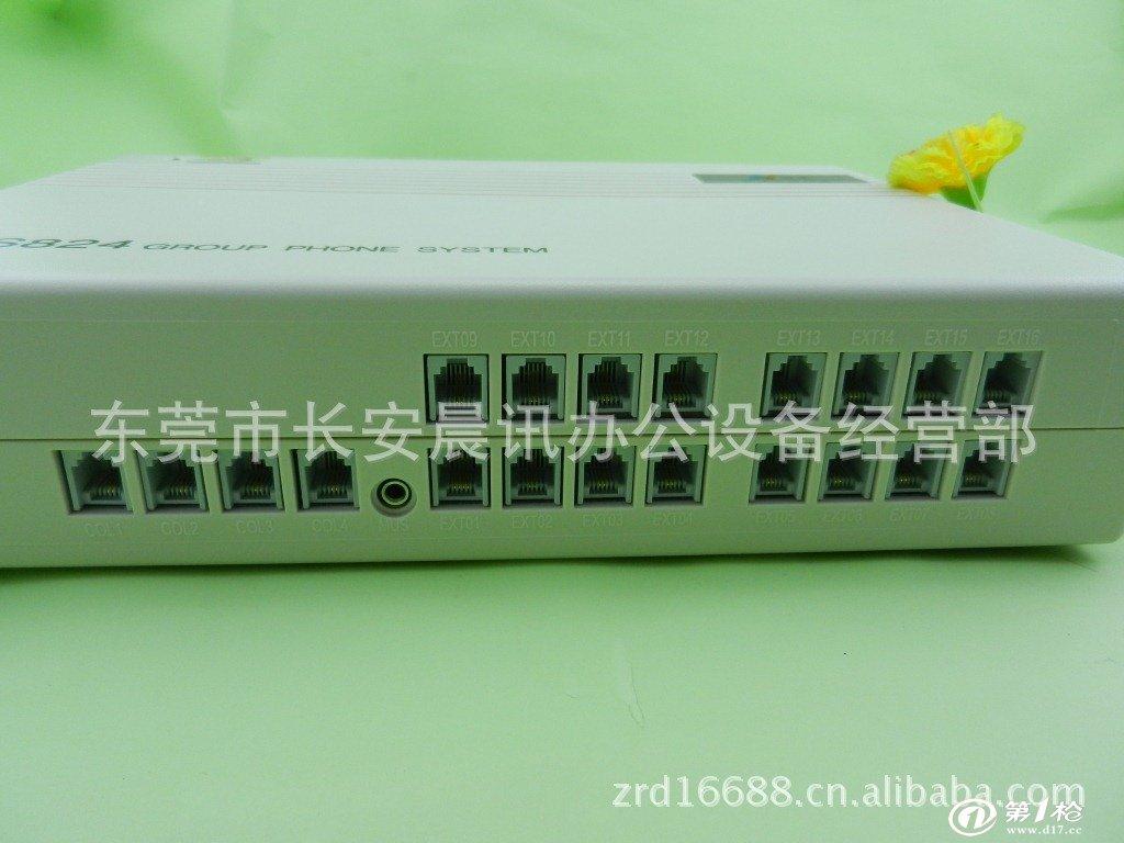 vv本机为4外线16分机 可以接16个分机和4个外线 产品描述: 基本配置为4外线16分机,不可扩展 尺寸:315mm(长)*250mm(宽)*75mm 具体功能: 1、配接1部英文显示专用话机,实现专用话机和普通话机都可编程。通过专用话机可监控全部外线和内线。 2、内置内、外线来电显示功能,内线来电显示制式选用DTMF制式,外线来电显示适用于FSK、DTMF两种制式,分机安装来电显示的话机后均可实现来电显示功能,来电号码可进行多次转接不丢失。并可实现同时5部普通分机同时来电显示,方便在多处进行来电