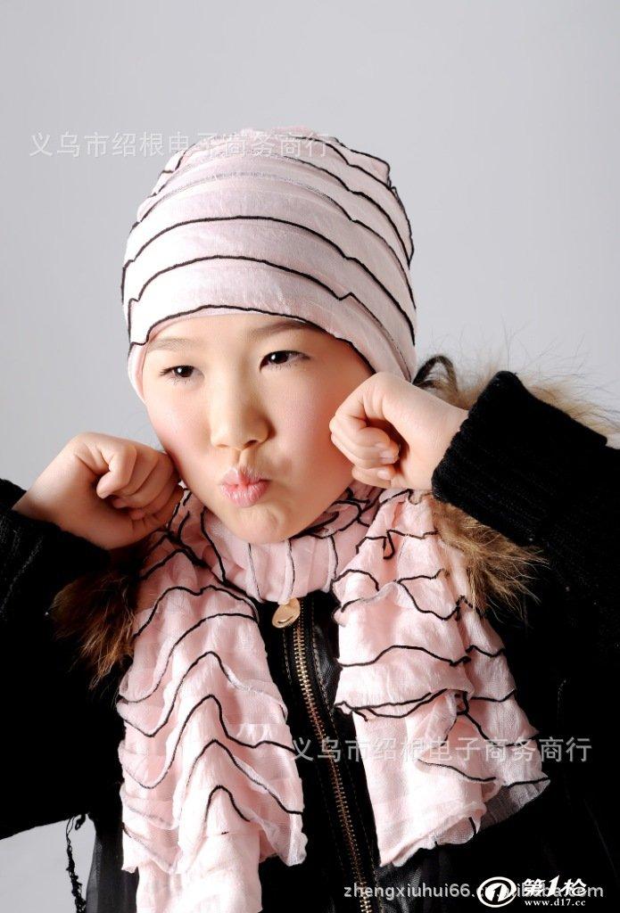钟表眼镜 服饰 围巾 【厂家直销】畅销款时尚多色可爱儿童围巾厂家