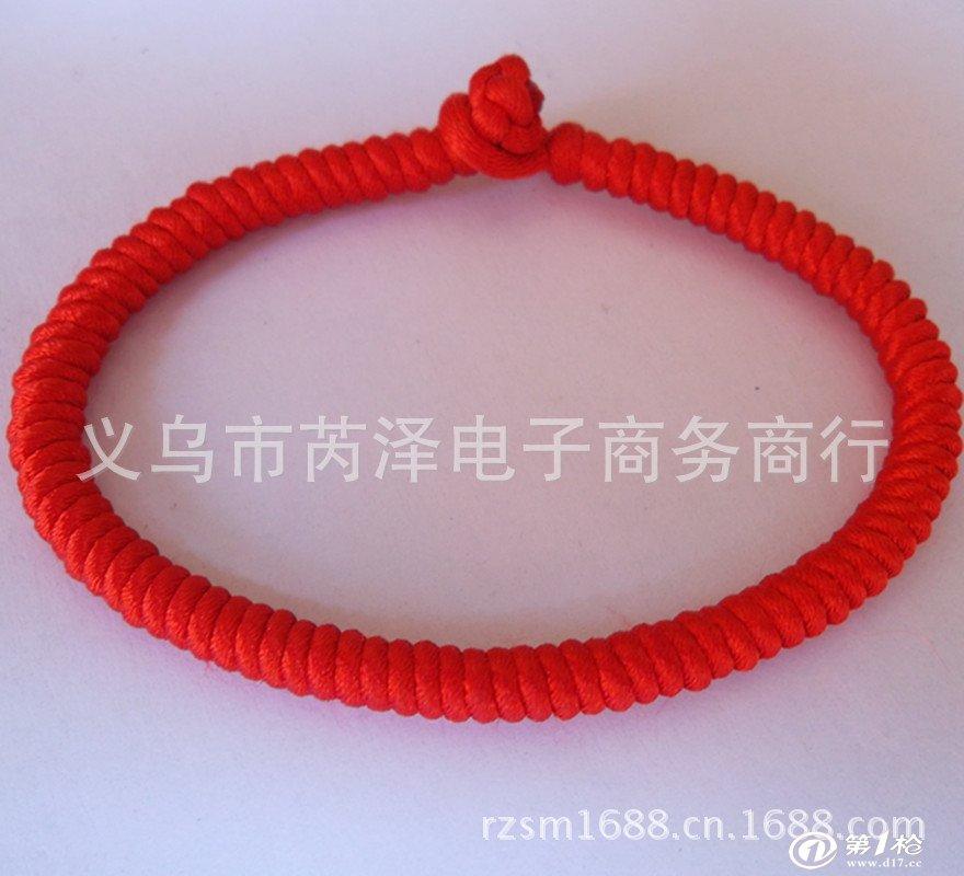 龙盘柱金刚结转运红绳手链 编号s4