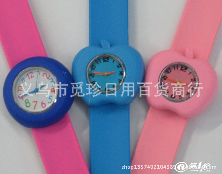 圆形儿童卡通手表 男孩女孩硅胶果冻表 啪啪表  【备注】规格为手工粗