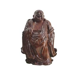 古沉木雕刻艺术JXLYQ00032 笑佛