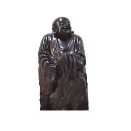古沉木雕刻艺术JXLYQ00076 笑佛