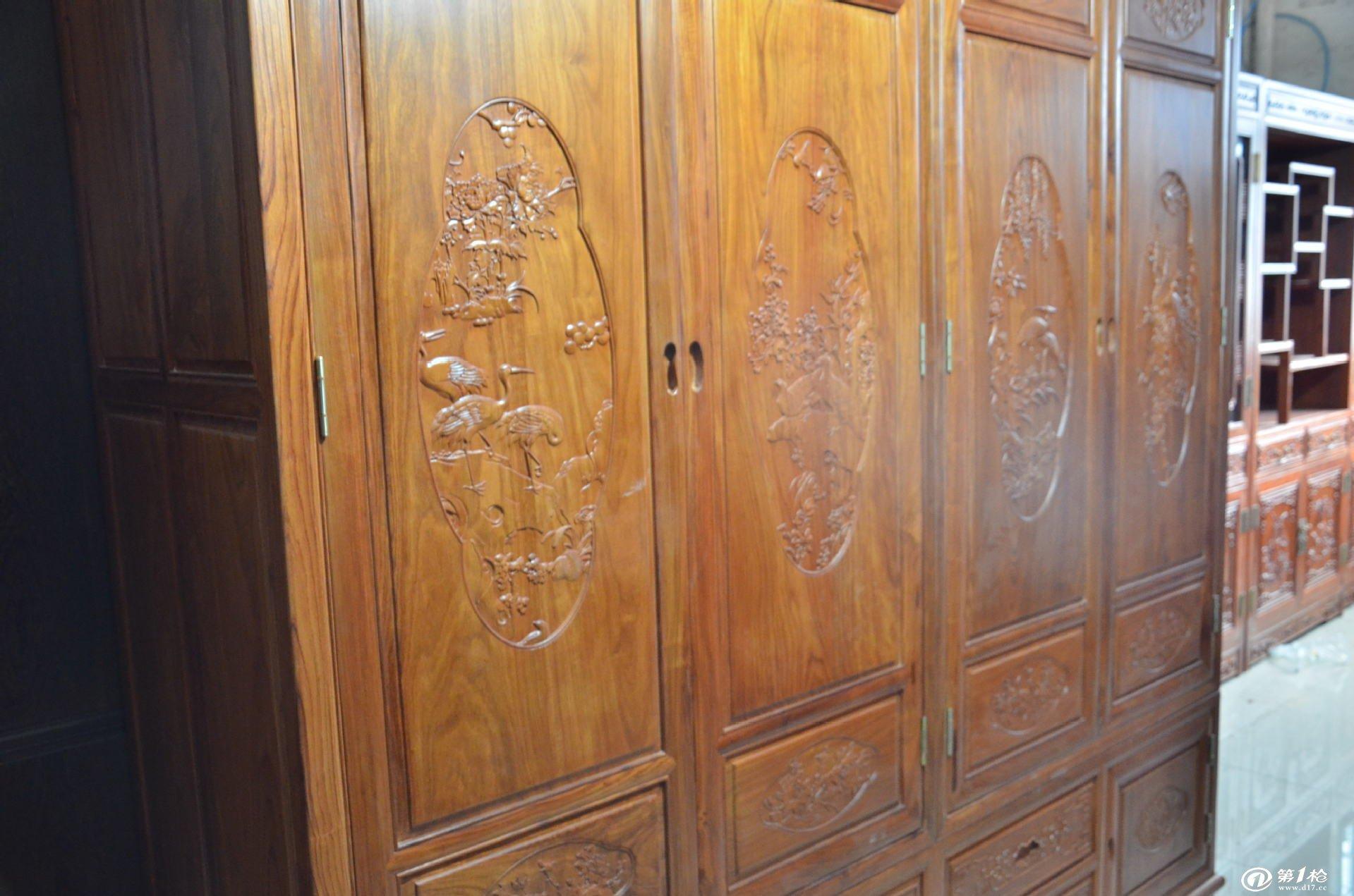 浙江杜邦红木家具经典四门大衣柜批发红木家具市场供应商专卖代理