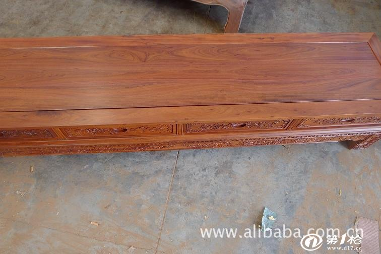 18米四斗电视柜 红木雕花视听柜 非洲酸枝 实木地柜