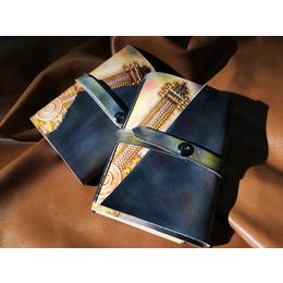 手工皮雕笔记本皮雕工艺旅行本