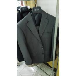 男士西服定制灰色条纹西服