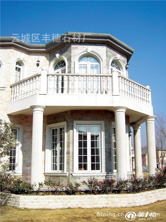 别墅圆柱切砖外围效果图