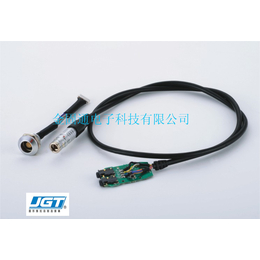 探伤专用超声波探头线探伤仪换能器连接线圆形快速自锁订制线