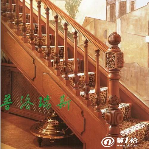 实木扶手大柱 实木楼梯制作流程