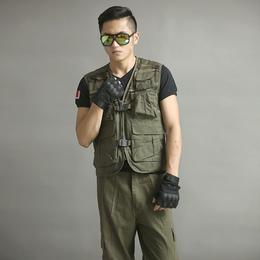 新款户外休闲服 特价战术马甲男套装运动马甲