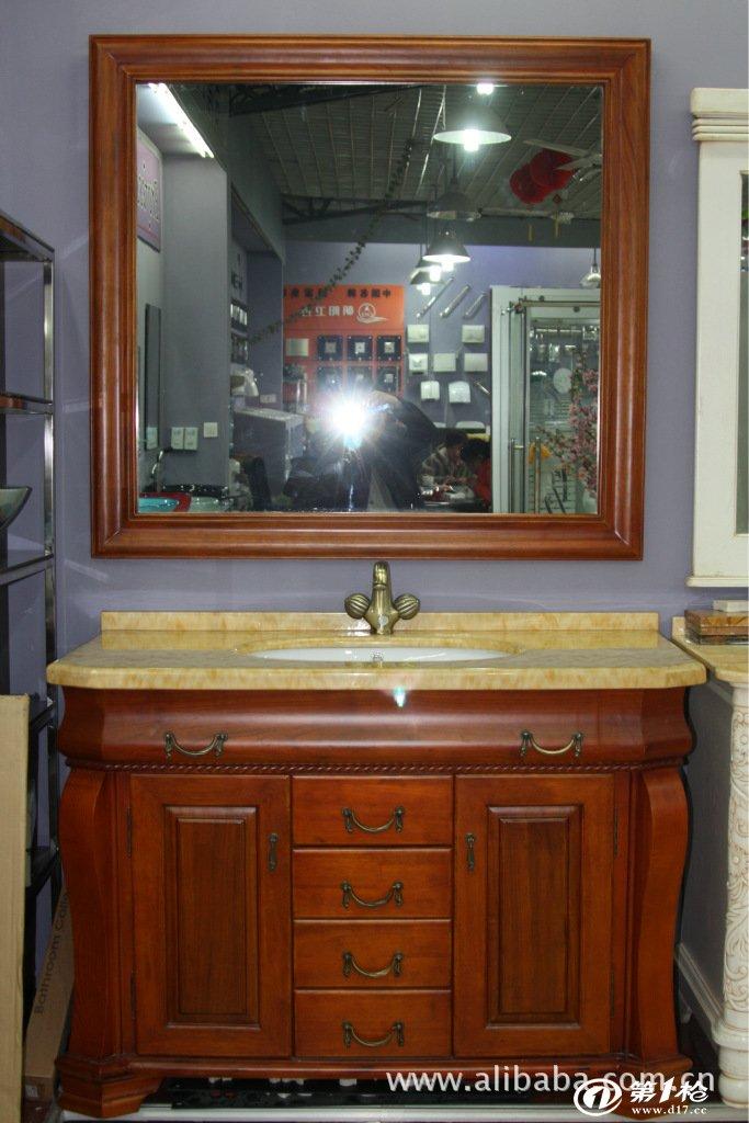 欧式实木雕花浴室柜