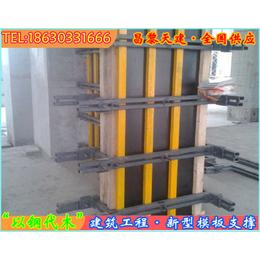 天津_钢结构剪力墙模板支撑加固组合保证灌注墙体平直