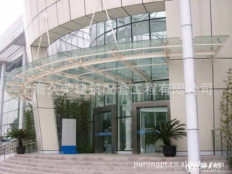 上海雨棚厂家/供应玻璃雨棚/钢结构雨棚/停车棚_景观