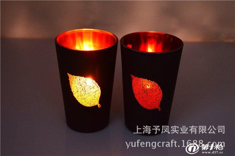 春节新款玻璃烛台,电镀玻璃蜡烛杯,欧式风格玻璃烛台