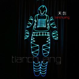 厂家直销 led光纤发光线连体舞台发光演出服饰