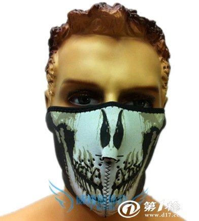 威搏斯 黑白骷髅面具(半脸面罩)骑车 滑雪 极限运动 防寒防护!