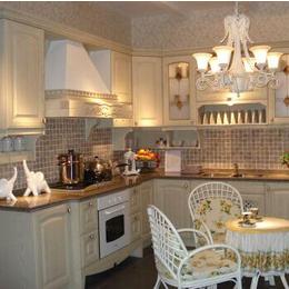 欧式现代白色橱柜  纯色实木厨房收纳柜