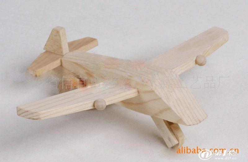 供应质优价廉手工制作的松木小飞机模型工艺品