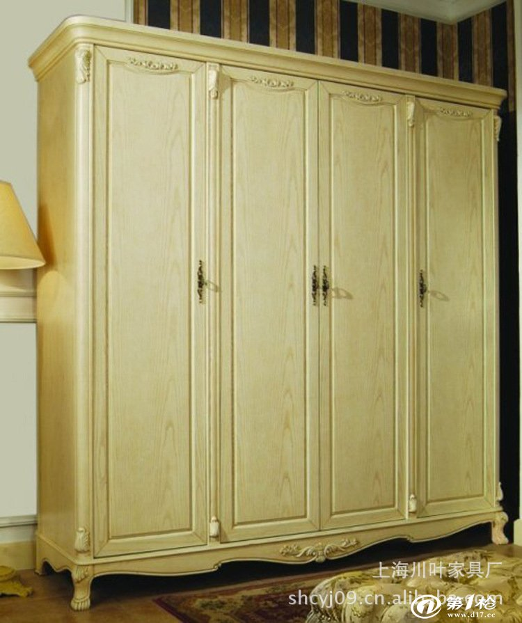 欧娜百合 欧式实木家具 美式家具 田园家具 白色 床头柜 灯柜