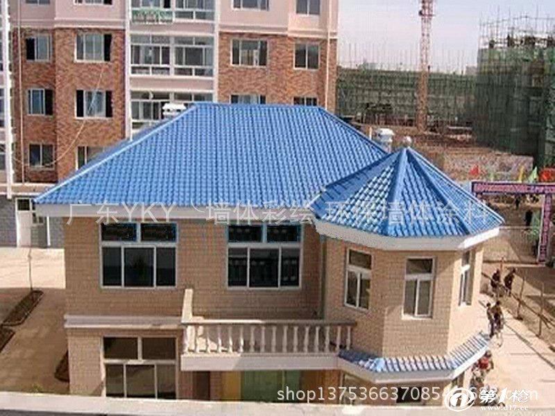 广东别墅瓦 树脂合成瓦 平改坡工程瓦 农村改造瓦 屋顶改造彩瓦