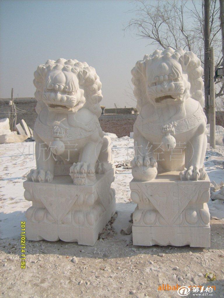 汉白玉1米高石雕鱼 动物石雕 雕刻