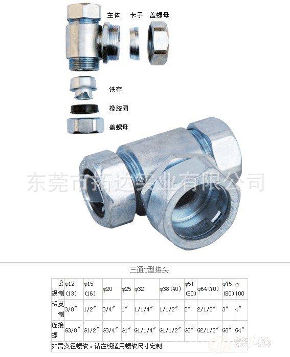 供应厂家优质金属包塑软管接头