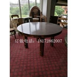 碳化木防腐木纯实木打造稳重使用寿命长超厚超重质量超好桌椅组合缩略图