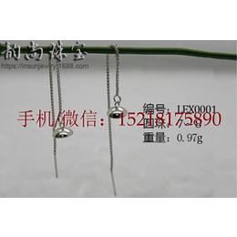 广州厂家直销款式齐全925纯银时尚圆珠款耳线空托批发